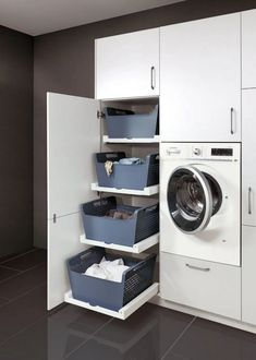 Planning and practically furnishing a utility room - Kitchen & Co, ideas . - Planning and practically furnishing a utility room – kitchen & co, ideas bathroom - Modern Laundry Rooms, Laundry Room Layouts, Laundry Room Remodel, Laundry Room Organization, Laundry In Bathroom, Utility Room Designs, Utility Room Ideas, Laundry Room Inspiration, Laundry Room Design