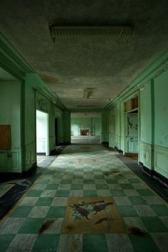 """This is the grand receiving lobby of the abandoned Unit 2 building at Mont Alto Sanatorium in Pennsylvania..."""