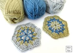 Strawflower Hexagon Motif By Jennifer Dickerson - Free Crochet Pattern - (ravelry)