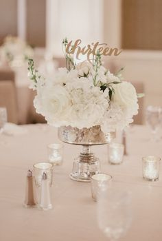 classy ballroom wedding reception flowers; Shaun Menary Photography