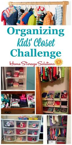 Here are step by step instructions for decluttering and organizing closet space for your kids, for their clothes and other possessions {part of the 52 Week Organized Home Challenge on Home Storage Solutions 101} #OrganizeKidsCloset #OrganizeCloset #OrganizingCloset Weekly Clothes Organizer, Kids Clothes Organization, Closet Organizer With Drawers, Closet Drawers, Home Organization Hacks, Organizing Your Home, Closet Organization, Organizing Tips, Organize Kids Clothes