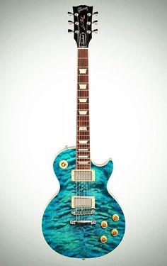 Gibson Les Paul Standard Premium Quilt in Ocean Water Perimeter Electric Guitar And Amp, Custom Electric Guitars, Custom Guitars, Stratocaster Guitar, Prs Guitar, Guitar Art, Violin, Guitar Logo, Bass Guitar Lessons