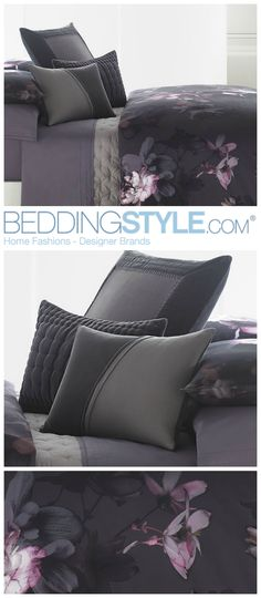 Vera Wang Night Blooms #BeddingStyle #VeraWang #purple #floral