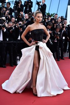Dressed to Impress at the Cannes Film Festival - Natasha Poly in Atelier Versace-Wmag