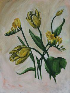 Freesia and tulips