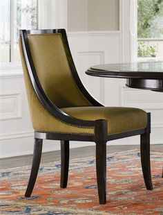 Matthew Izzo offers a wealth of exquisite designer pieces in his online store like this Brownstone Sienna Dining Chair. Living Room Sofa Design, Bedroom Furniture Design, Dining Room Design, Dining Table Chairs, Dining Furniture, Side Chairs, Vintage Chairs, Antique Brass, Armchairs