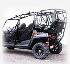 Polaris RZR4 6 Seat Conversion Kit. Room for all the boys. Wow that's cool!!!