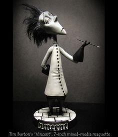Sculpture of Tim Burton's Vincent made by Andy Bergholtz