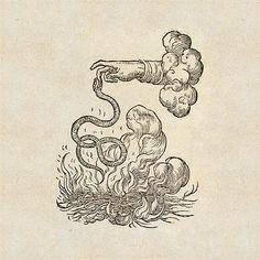 fire cloud snake hand