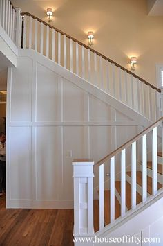 Street of Dreams Portland Style - House 1--stairs, millwork, details
