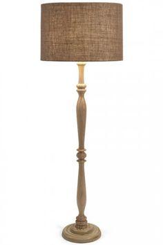 Harbin Wood Floor Lamp - Brown Floor Lamp - Traditional Floor Lamp - Spindle Floor Lamp | HomeDecorators.com