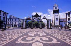 Portas da Cidade in Ponta Delgada - Sao Miguel island - Azores, Portugal Azores Portugal, Visit Portugal, Portugal Vacation, Portugal Travel, Portugal Trip, Funchal, Beautiful Islands, Beautiful Places, Stunningly Beautiful