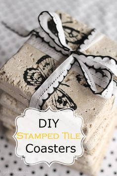 girl. Inspired.: Stamped Tile Coasters – DIY