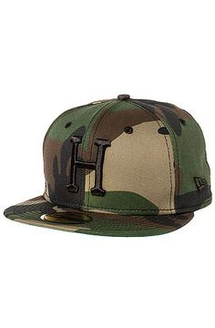 3dc0ce45f5c3f HUF Hat Classic H New Era Fitted Woodland Camo Green - Karmaloop.com  Streetwear Brands