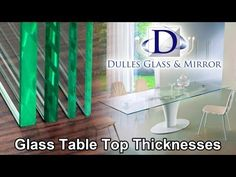 Glass table top thicknesses