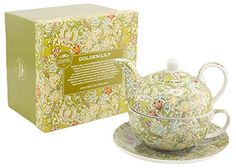 Lesser & Pavey Golden Lily Tea For One, Green: Amazon.co.uk: Kitchen & Home