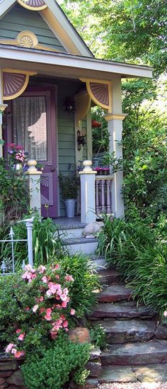 Victorian Cottage... I like the steps to the front door