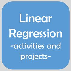 Linear regression day 3 linear regression project pinterest linear regression bundle projects task cards residuals graphing word prob fandeluxe Gallery