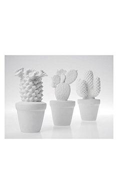 Kare Design Deko Kaktus Western Weiß