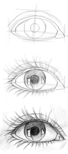 20 Amazing Eye Drawing Tutorials & Ideas – Brighter Craft - drawing tips Cool Art Drawings, Pencil Art Drawings, Easy Drawings, Drawing Sketches, Eye Sketch, Drawing Faces, Drawing Drawing, Drawings Of Eyes, Amazing Drawings