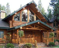 Beautiful Log Cabins | Beautiful Log Home..... | I Love Logs (cabins)