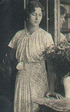 Princess Cecilie (1911-1937) Greece-Denmark wife of Georg Donatus (1906-1937) Hesse, Germany.