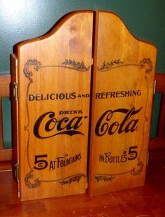 Vintage Coca-cola Dart Board Cabinet-no Darts Just Cabinet Great Condition! L@@k