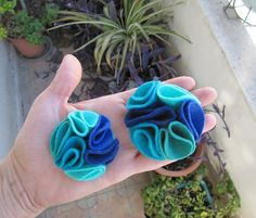 Multi color felt magnetic brooch  shades of by TamTamThingsToWear, $10.00