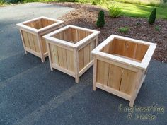 Plans of Woodworking Diy Projects - cedar planter box plans Planter Box Plans, Cedar Planter Box, Garden Planter Boxes, Planter Ideas, Planter Pots, Square Planter Boxes, Wooden Garden Boxes, White Planter Boxes, Building Planter Boxes