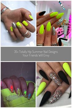 Amazing Summer Neon Nails Art Design You Must Try - Nail Art Connect#neonnails#summernails #neon nails