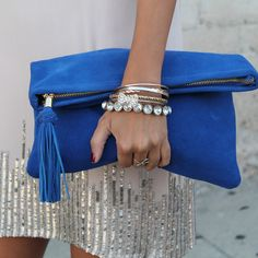 bright blue meets bling