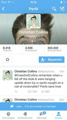 #WeeklyChris  #ChristianCollins #twitter #Attractive #cute #WeeklyChrisLovers #funny