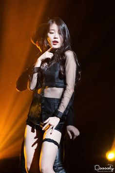 IU is known for her bubbly, bright image, but she can also go sexy! These are the 10 sexiest outfits that IU has ever worn. Kpop Outfits, Sexy Outfits, Sexy Dresses, Choker Outfit, Fishnet Top, Perfect Figure, Beauty Full Girl, Iu Fashion, Korean Actresses
