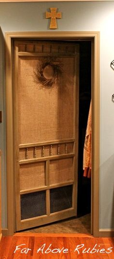 I want a screen door for my pantry! This one is great.   Far Above Rubies: The Old Screen Door