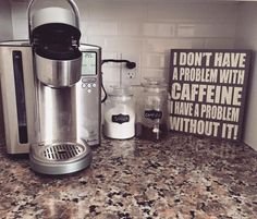 Coffee bar for the coffee addict! Sign from Home Sense Canada