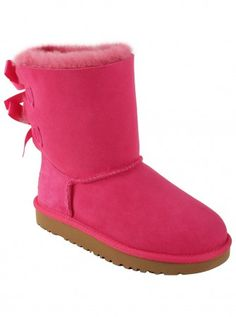 UGG® Australia Youth Bailey Bow in Cerise.... Soo happy I can wear ill kid shoes! These are adorable
