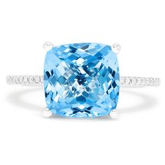 Effy Jewelry Effy Ocean Bleu 14K White Gold Blue Topaz and Diamond... ($1,047) ❤ liked on Polyvore featuring jewelry, rings, 14k ring, 14k diamond ring, 14 karat gold ring, diamond rings and blue topaz white gold ring