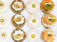 #Canapé: #Rockford and #Walnuts- #Salmon –Turkey & cheese. #kitchen #food #catering