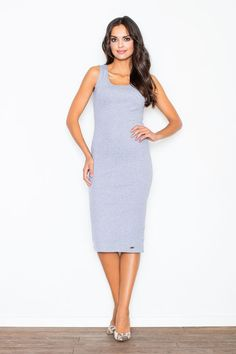 Looking for Bodycon Dresses? Call off the search with our Grey Bodycon Pencil Midi Dress. Shop unique fashion at SilkFred Unique Fashion, Capsule Wardrobe, Spring Summer Fashion, Work Wear, High Neck Dress, Bodycon Dress, Dresses For Work, Trending Outfits, Fashion Outfits