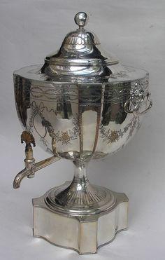 Tea Urn - Circa 1787. - http://www.riverterrace.co.uk/?old-sheffield-plate-tea-urn-circa-1787,62