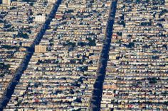 San Francisco, the section in the outskirts where it was built ticky tack, all neat and in a row. Called Daly City.