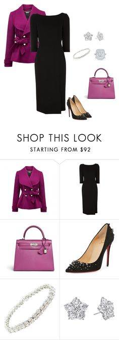 """""""Untitled #2"""" by pembridge ❤ liked on Polyvore featuring Forever New, Dolce&Gabbana, Hermès, Christian Louboutin, Harry Winston, Betteridge and Tacori"""