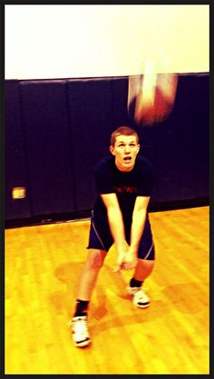 #4 Action shot with Molten ball. Working on my passing in practice! #USAVolleyballPinItToWinIt