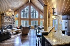 Log Home Interiors | ... Does it Take to Build a New Home? - Green Building - Timberblock.com