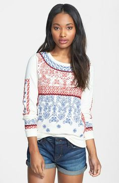 Lucky Brand Embroidered Sweatshirt available at #Nordstrom 99$