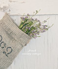 FRENCH COUNTRY COTTAGE: Simple Burlap Bags