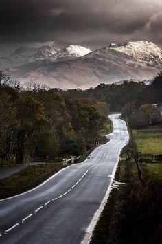 The road to Glencoe, Scotland