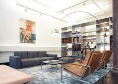 Greene Street Loft by Slade Architecture - A Interior Design Modern White Living Room, Living Room Orange, Spacious Living Room, Formal Living Rooms, Living Spaces, Living Room New York, Living Room Photos, Soho Loft, Loft Design