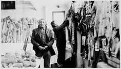 Curly Bear and Fish Wolf Robe, Browning, Montana, Indian Peoples Digital Image Database Object Description