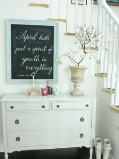 Frame a seasonal quote or Bible verse in your entryway to welcome Easter guests.